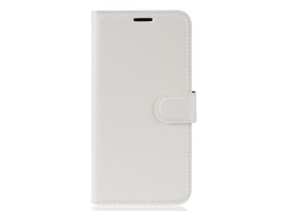 Калъф Тефтер Litchi за Xiaomi Mi 8 Lite, Бял