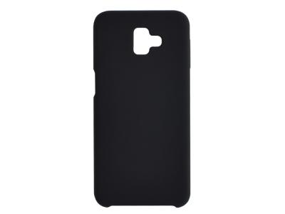 Пластмасов Гръб LUX за Samsung Galaxy J6 Plus, Черен