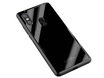 Калъф Гръб Glass за Xiaomi Mi A2 Lite / Readmi 6 Pro, Черен