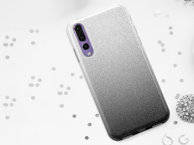 Силиконов Гръб BLING за Huawei P20 Pro, Черен