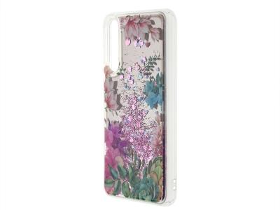 Силиконов Гръб Mirror Liquid за Huawei P20 Pro, Цветя