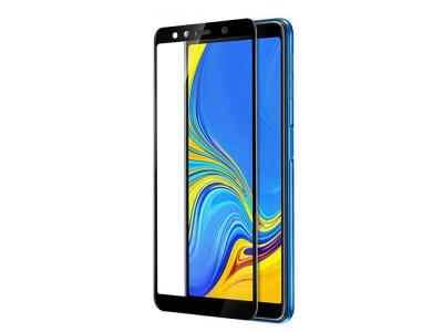 Стъклен Протектор 5D Full Glue за Samsung Galaxy A7 2018, Черен