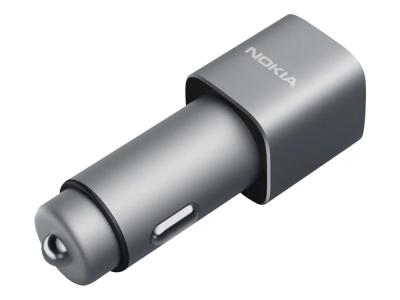 Оригинално зарядно за автомобил на Nokia DC-801 , Сребрист