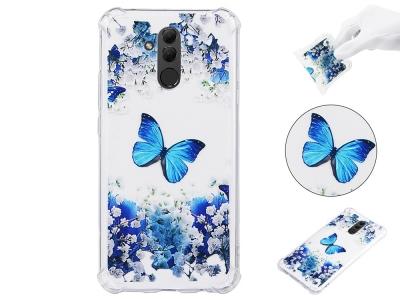 Силиконов Гръб Anti Drop за Huawei Mate 20 Lite, Цветя и Пеперуди
