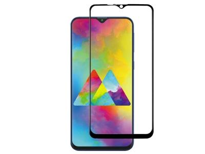 Стъклен Протектор Full Glue 5D за Samsung Galaxy M20 , Черен