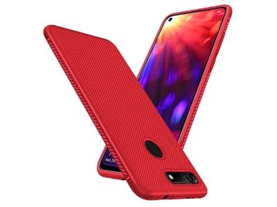 Силиконов гръб Twill за Huawei Honor View 20 / Honor V20, Червен