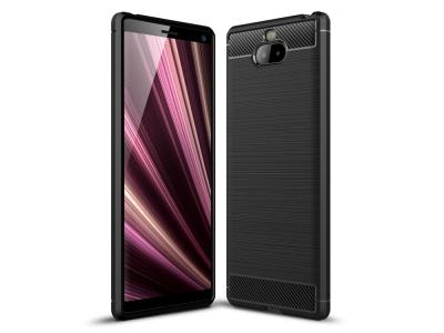 Силиконов Калъф Carbon за Sony Xperia 10 Plus, Черен