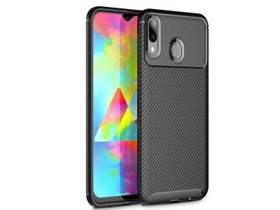 Силиконов гръб Carbon Fiber за Samsung Galaxy M20, Черен