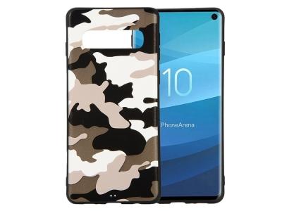 Силиконов Гръб за Samsung Galaxy S10, Бял камуфлаж