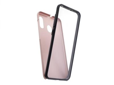 360 Градуса калъф за Samsung Galaxy A30, Розов/ Златист