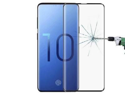 Стъклен Протектор Full Glue 5D за Samsung Galaxy S10 Plus, Черен