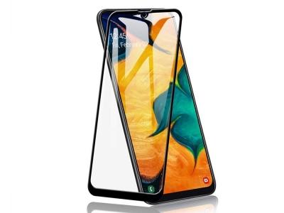 Стъклен Протектор Full Glue 5D за Samsung Galaxy A40, Черен