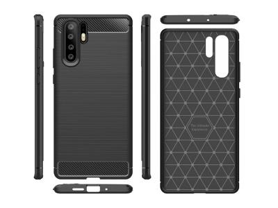 Силиконов гръб Carbon Fibre за Huawei P30 Pro, Черен