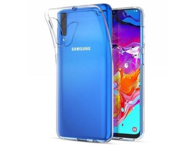 Силиконов гръб за Samsung Galaxy A70, Прозрачен