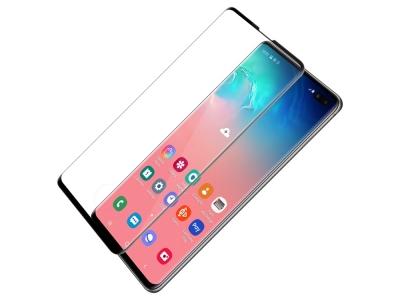 Стъклен Протектор NILLKIN 3D CP+MAX за Samsung Galaxy S10 Plus, Черен