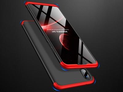 Ултра Тънък Пластмасов Калъф за Huawei Y9 2019, Черен / Червен