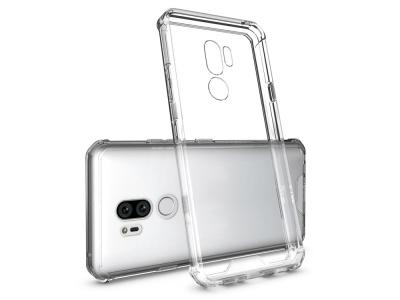 Силиконов гръб Armor Hybrid за LG G7 ThinQ, Сребрист