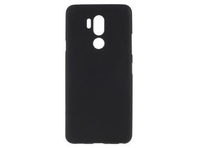 Силиконов Гръб Matte за LG G7 ThinQ, Черен