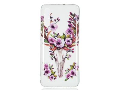 Силиконов Фосфоресциращ гръб за Samsung Galaxy A70, Цветя
