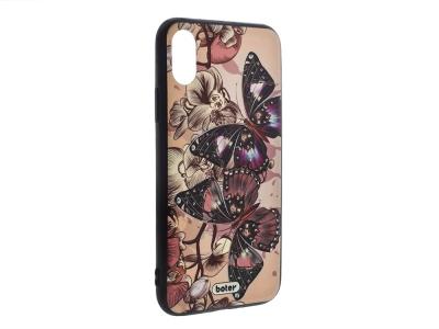 Пластмасов гръб Boter за iPhone X / 10, Пеперуди