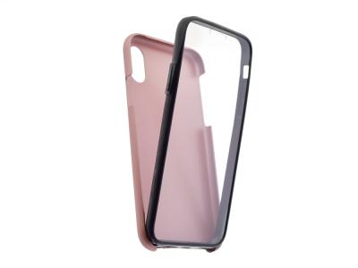 360 Градуса калъф за iPhone X / XS, Розов / Златист