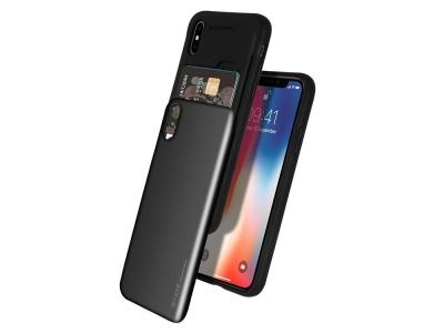 Калъф Гръб SKY SLIDE Mercury за iPhone XS MAX, Черен