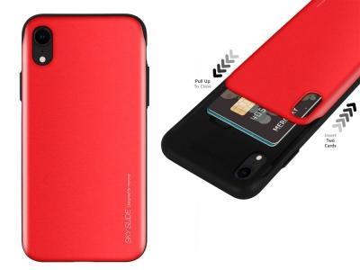 Калъф Гръб SKY SLIDE Mercury за iPhone XR, Червен