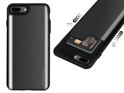 Калъф Гръб SKY SLIDE Mercury за iPhone 7 Plus / iPhone 8 Plus , Черен