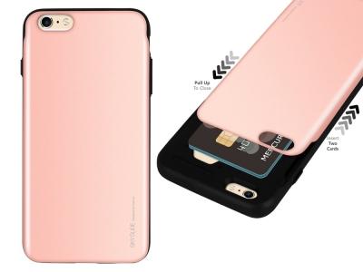 Калъф Гръб SKY SLIDE Mercury за iPhone 6 / 6S, Розов/ Златист