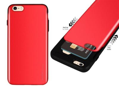 Калъф Гръб SKY SLIDE Mercury за iPhone 6 / 6S, Червен