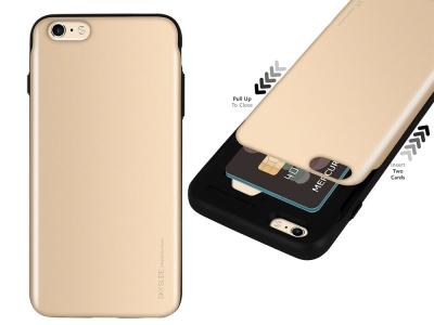 Калъф Гръб SKY SLIDE Mercury за iPhone 6 / 6S, Златист