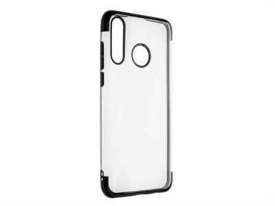 Силиконов гръб с лайсна CLEAR за Huawei P30 Lite, Черен