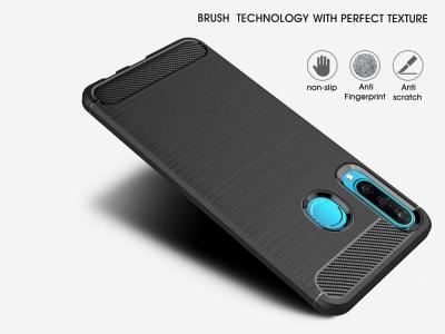Силиконов гръб Carbon за Huawei P30 lite, Черен