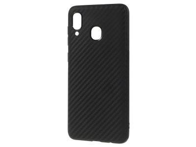 Силиконов гръб Carbon за Samsung Galaxy A30 / A20, Черен