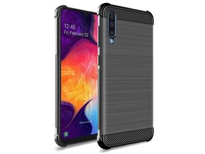 Силиконов Гръб IMAK Carbon за Samsung Galaxy A50/ Galaxy A30s, Черен
