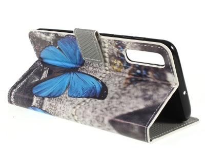 Калъф Тефтер за Samsung Galaxy A50 / Galaxy A30s, Синя пеперуда