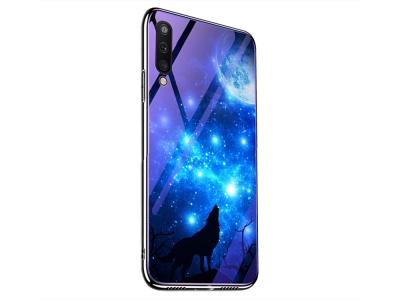 Стъклен Гръб Glass за Samsung Galaxy A50/ Galaxy A30s, Звездно небе и вълк