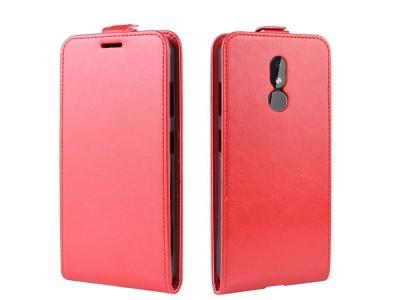 Калъф тефтер Crazy Horse за Nokia 3.2, Червен