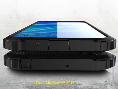 Удароустойчив калъф гръб Armor за Huawei Y5 2019 / Honor 8S, Черен