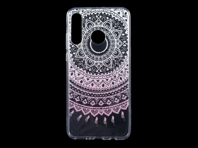 Силиконов гръб за Huawei P30 Lite, Розови елементи