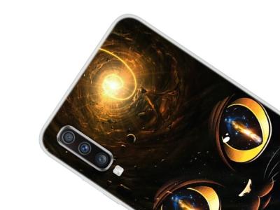 Силиконов Гръб за Samsung Galaxy A70, Очи