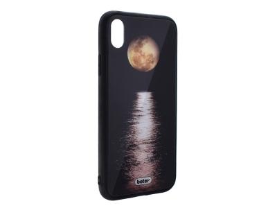 Пластмасов Гръб Glass Boter за iPhone XS MaX , Луна