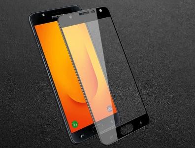 Стъклен Протектор 3D за Samsung Galaxy J7 Duo, Черен