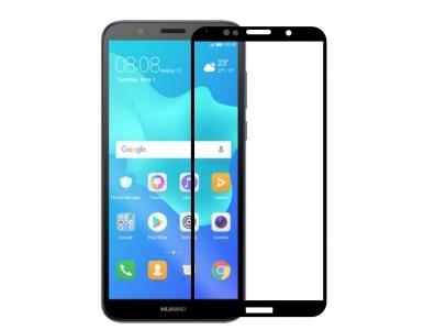 Стъклен Протектор 5D Full Glue за Huawei Y5 2018, Черен