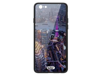Пластмасов Гръб Glass Boter за iPhone 6 / 6S, Нощен град