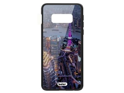 Пластмасов Гръб Glass Boter за Samsung Galaxy S10e, Нощен град