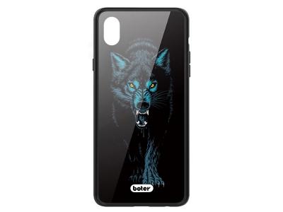 Пластмасов Гръб Glass Boter за iPhone XR (6.1), Вълк