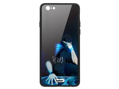Пластмасов Гръб Glass Boter за iPhone 6 / 6S, DJ