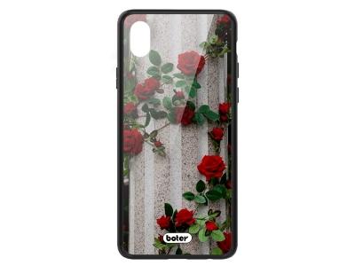 Пластмасов Гръб Glass Boter за iPhone X/ XS, Рози