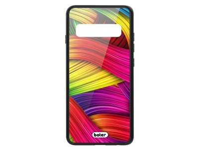 Пластмасов Гръб Glass Boter за Samsung Galaxy S10 Plus, Цветни нишки